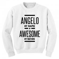 Angelo Personalized Name Birthday Gift Youth Sweatshirt   Artistshot