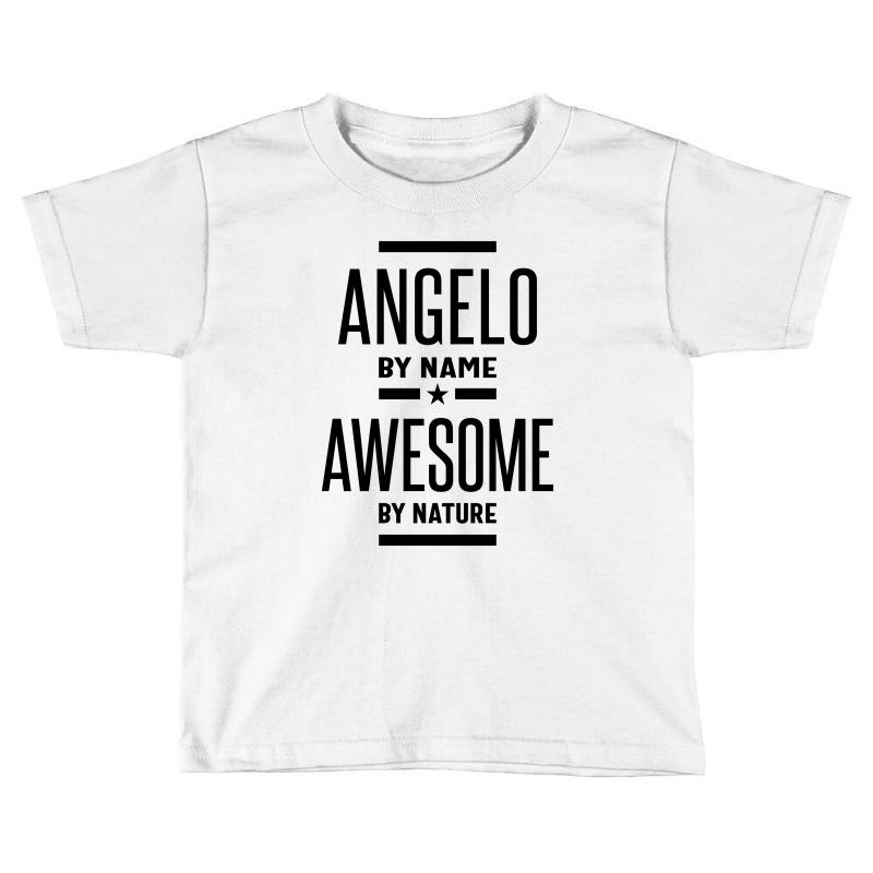 Angelo Personalized Name Birthday Gift Toddler T-shirt | Artistshot