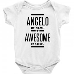 Angelo Personalized Name Birthday Gift Baby Bodysuit   Artistshot