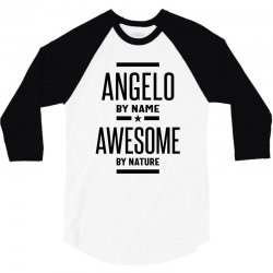 Angelo Personalized Name Birthday Gift 3/4 Sleeve Shirt | Artistshot