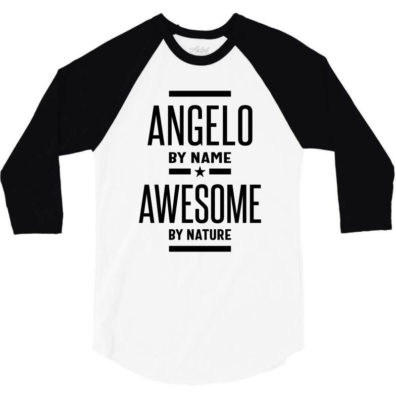 Angelo Personalized Name Birthday Gift 3/4 Sleeve Shirt | Artistshot