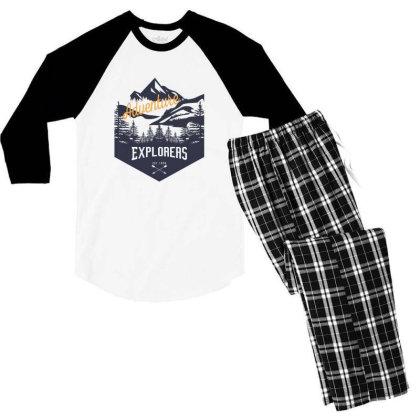 Adventure Men's 3/4 Sleeve Pajama Set Designed By Estore