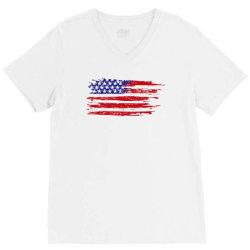 American flag V-Neck Tee | Artistshot