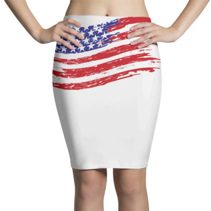 American Flag Pencil Skirts Designed By Estore