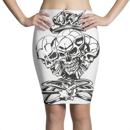 Skull Pencil Skirts Designed By Estore