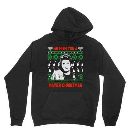 Wish You A Mayer Christmas Unisex Hoodie Designed By Paulscott Art