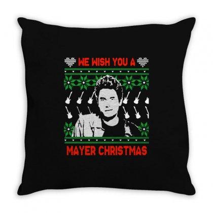 Wish You A Mayer Christmas Throw Pillow Designed By Paulscott Art