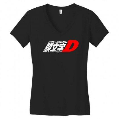 Initial D Anime Manga Drift Race Jdm Women's V-neck T-shirt Designed By Fanshirt