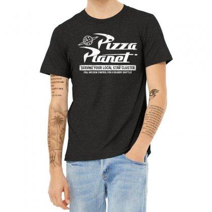 Pizza Planet Vintage Heather T-shirt Designed By Paulscott Art