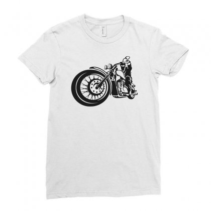 Chopper Biker Men Funny Ladies Fitted T-shirt Designed By Candrashop