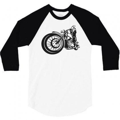 Chopper Biker Men Funny 3/4 Sleeve Shirt Designed By Candrashop