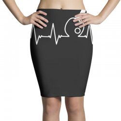 table tennis heartbeat Pencil Skirts | Artistshot