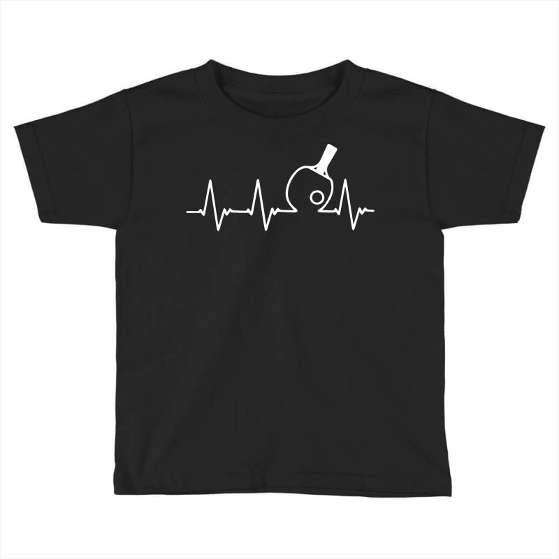 Table Tennis Heartbeat Toddler T-shirt | Artistshot