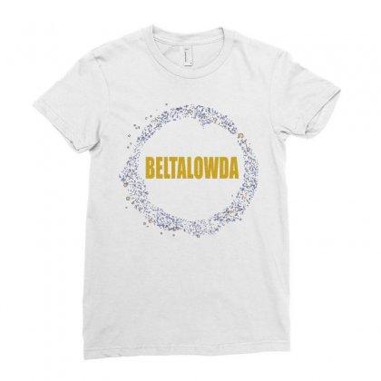 Beltalowda Belt Graphic Ladies Fitted T-shirt Designed By Jetspeed001