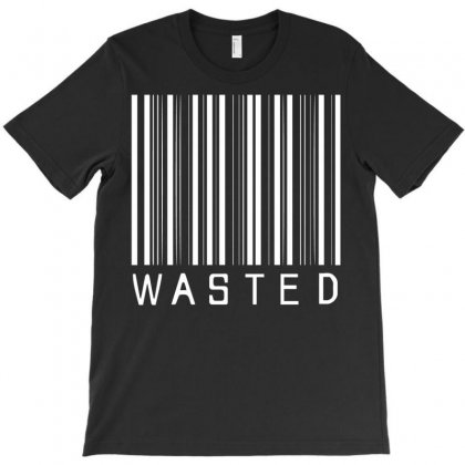 Wasted Barcode T-shirt Designed By Bud1
