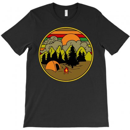 Camping Vintage Birthday T-shirt Designed By Jetspeed001