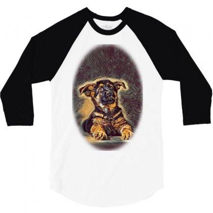 Owner And Labrador Retriever E City 3/4 Sleeve Shirt Designed By Kemnabi