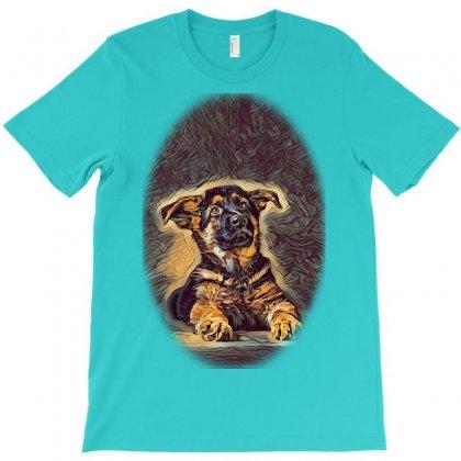 Owner And Labrador Retriever E City T-shirt Designed By Kemnabi