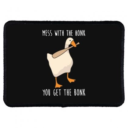 Goose Honk Merch Rectangle Patch Designed By Doniemichael