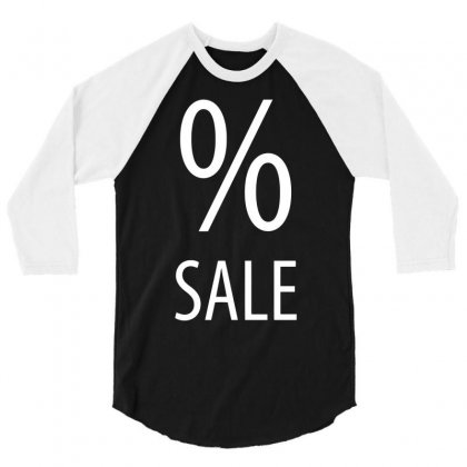 Sale Per Cent Funny 3/4 Sleeve Shirt Designed By Candrashop