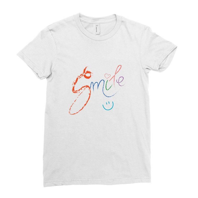 Smile Ladies Fitted T-shirt   Artistshot