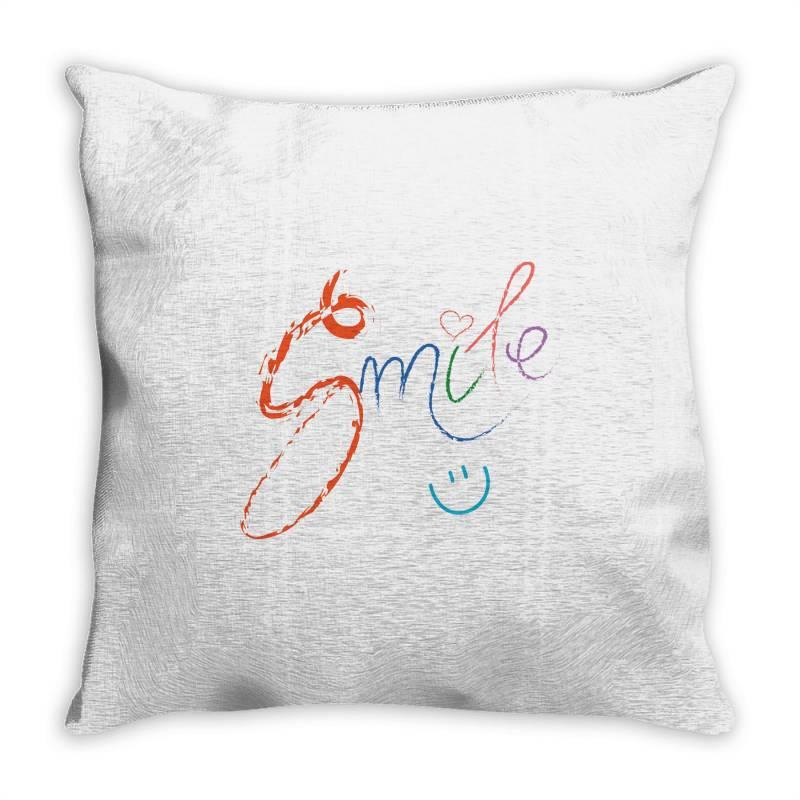 Smile Throw Pillow | Artistshot