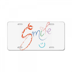Smile License Plate | Artistshot