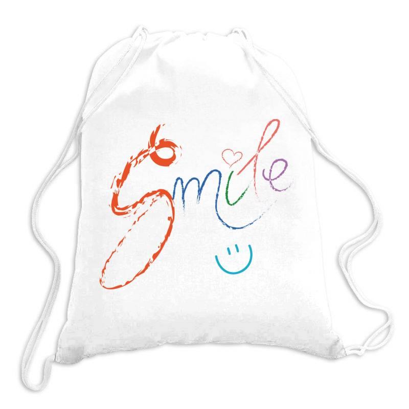 Smile Drawstring Bags | Artistshot