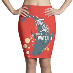 The life under water Pencil Skirts | Artistshot