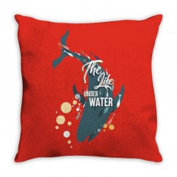 The life under water Throw Pillow   Artistshot