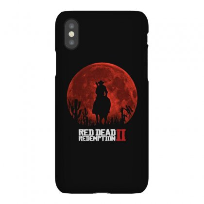 Red Dead Redemption 2   Red Moon   Cowboy Iphonex Case Designed By Paulscott Art