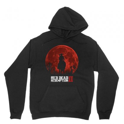 Red Dead Redemption 2   Red Moon   Cowboy Unisex Hoodie Designed By Paulscott Art