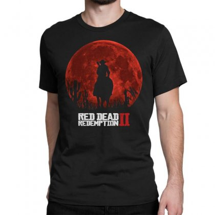 Red Dead Redemption 2   Red Moon   Cowboy Classic T-shirt