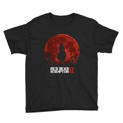 Red Dead Redemption 2   Red Moon   Cowboy Youth Tee Designed By Paulscott Art