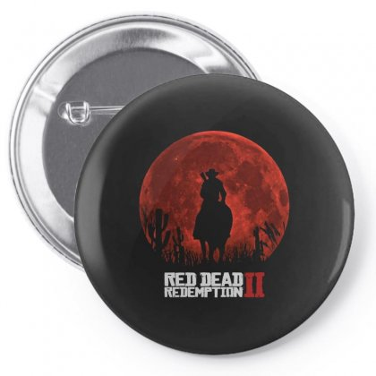 Red Dead Redemption 2   Red Moon   Cowboy Pin-back Button Designed By Paulscott Art