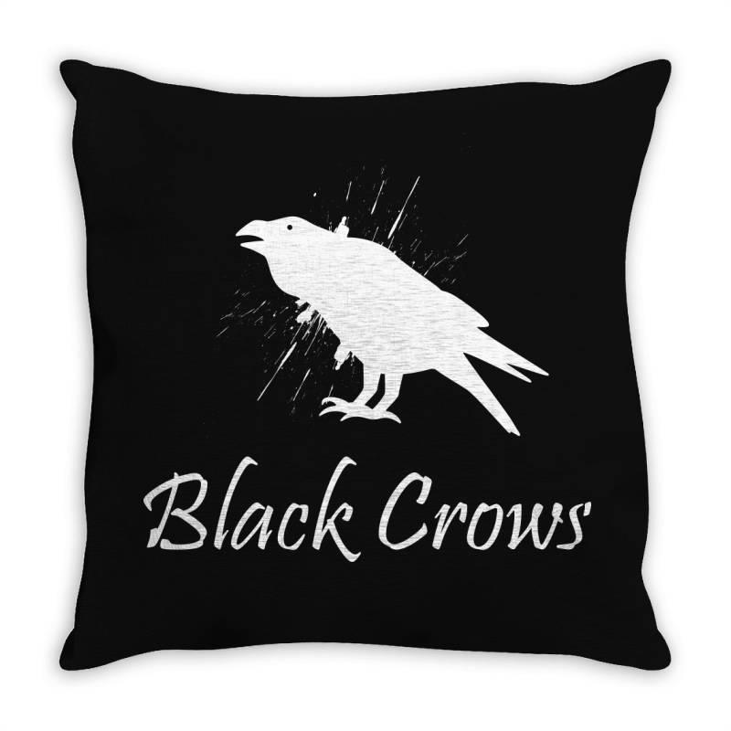 Black Crows Throw Pillow   Artistshot