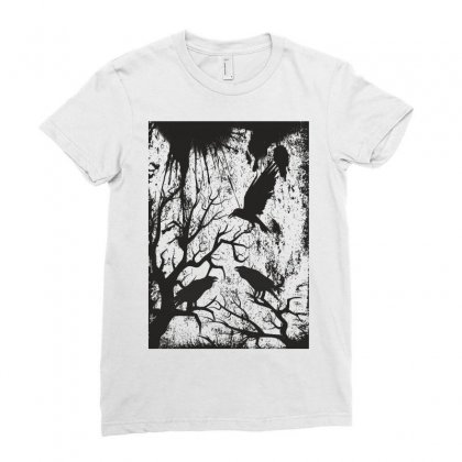 Black Crows Ladies Fitted T-shirt Designed By Estore