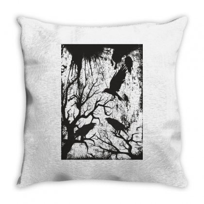 Black Crows Throw Pillow Designed By Estore