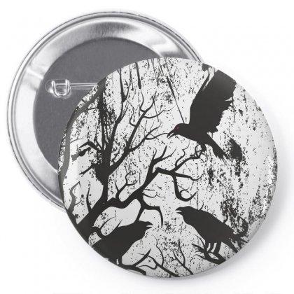 Black Crows Pin-back Button Designed By Estore