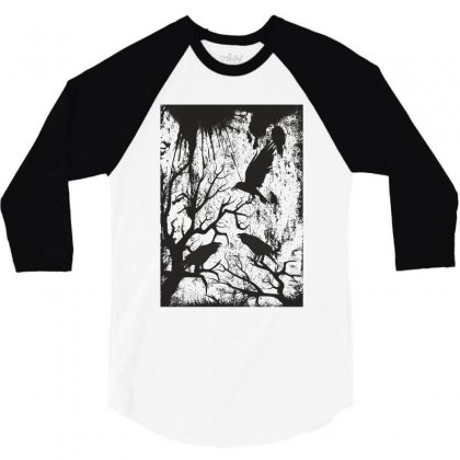 Black Crows 3/4 Sleeve Shirt Designed By Estore