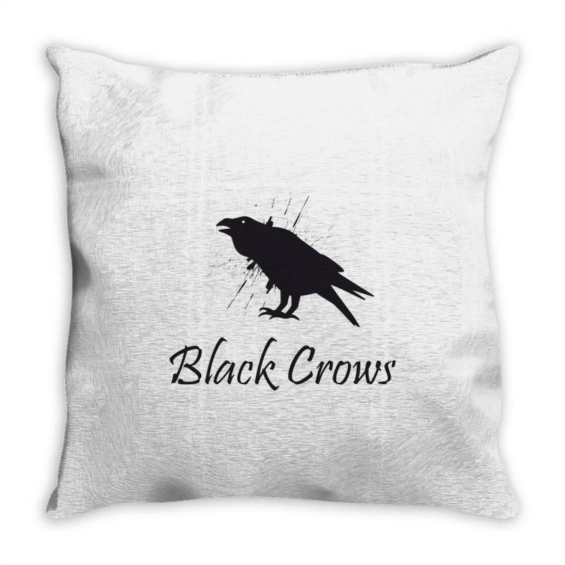 Black Crows Throw Pillow | Artistshot