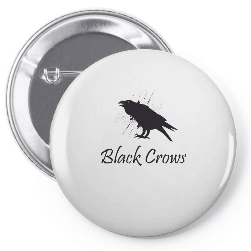 Black Crows Pin-back Button   Artistshot
