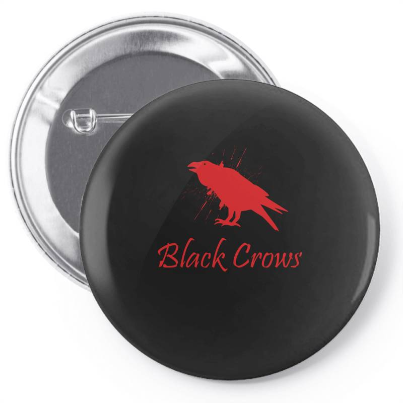 Black Crows Pin-back Button | Artistshot