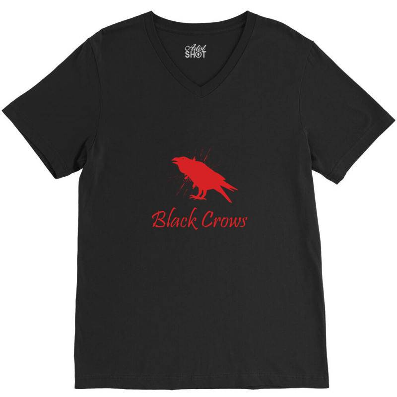 Black Crows V-neck Tee | Artistshot