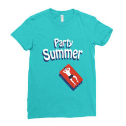 Party summer Ladies Fitted T-Shirt | Artistshot