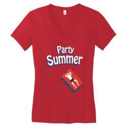 Party summer Women's V-Neck T-Shirt | Artistshot