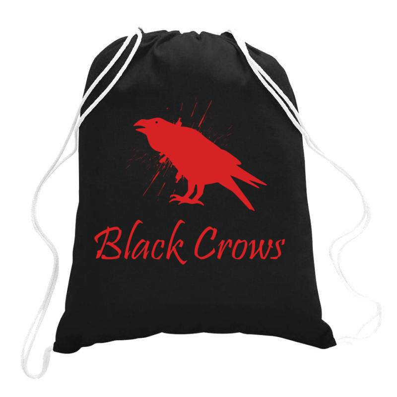 Black Crows Drawstring Bags | Artistshot