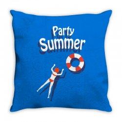 Party summer Throw Pillow | Artistshot