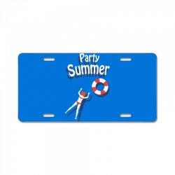 Party summer License Plate | Artistshot