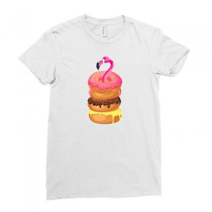 Donut Flamingo Ladies Fitted T-shirt Designed By Neset
